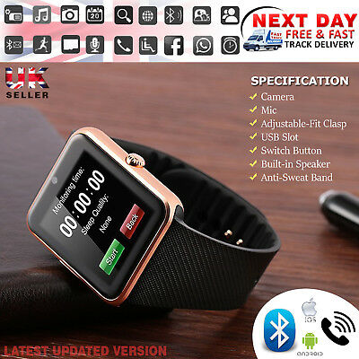 BluetoothGT08  Smart Watch For Android iOS iPhone Apple GSM GPRS SIM Best Gift