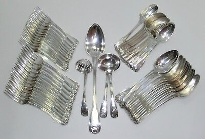 Fabulous 52 pc Silver Service in Fiddle Thread and Shell Pattern - 1806/9 London