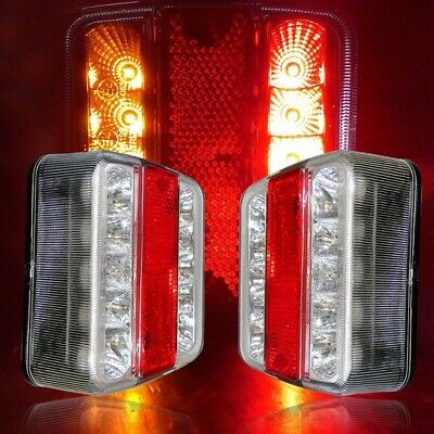 12V/24V LED Tail lights Stop Brake lamps Lights WATERPROOF Boat Trailer AU Stock