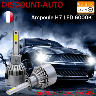 Ampoules LED HID Xénon phare voiture x2 H7 72W 6000K Blanc VW golf 5