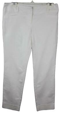 The Limited Collection Ladies Womens White Cropped Capri Pants Drew Fit Size 6