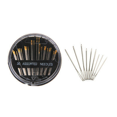 30 Assorted Hand Sewing Needles&9 Large Eye Blunt Needles Embroidery Mending