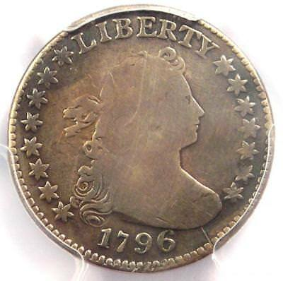 1796 Draped Bust Dime 10C JR-5. Certified PCGS VG Detail - Rare First Year Coin!