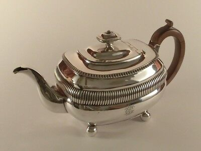 Lovely 1808 Georgian English Silver Teapot - Solomon Hougham, London