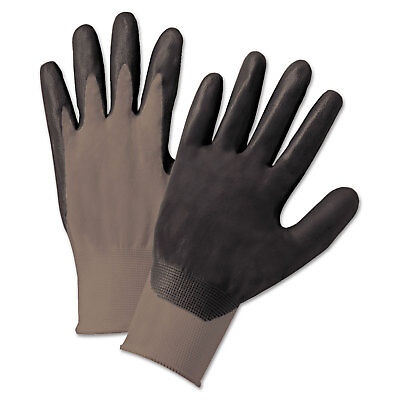 Anchor Brand Nitrile Coated Gloves Gray/Dark Gray Nylon Knit Large 12 Pairs