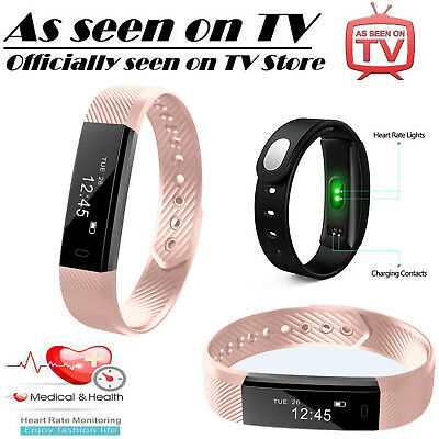 New ID115 Fitness Tracker Smart Watch Activity Fit Step For Alta style Pink UK