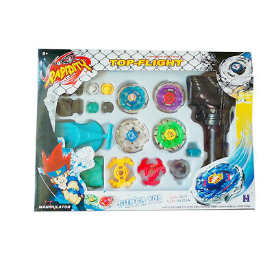 New Fusion Top Metal Master Rapidity Fight Rare Beyblade 4D Launcher Grip Set EC