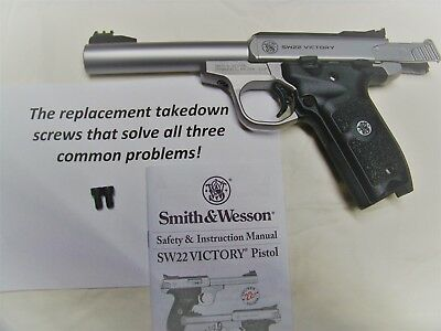 Two improved replacement takedown screws for S& W SW22 Victory-Problems solved!!