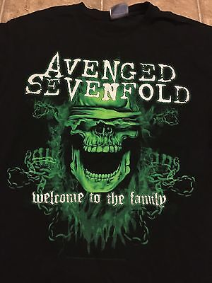 Avenged Sevenfold 2011 Summer Tour Welcome To The Family T-Shirt Medium