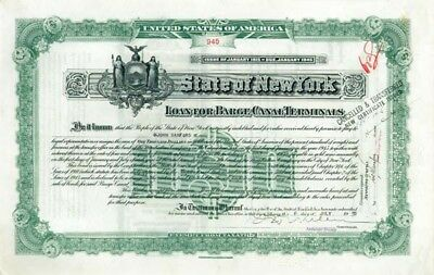 State of New York - Loan for Barge Canal Terminals