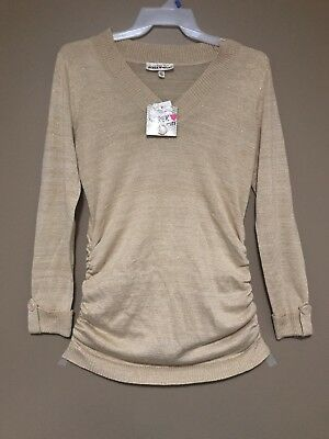 New Biege & Gold Maternity Sweater X-Large