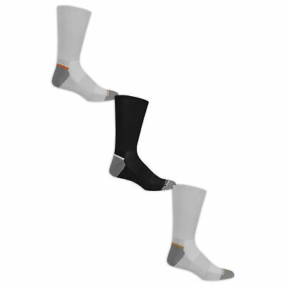 Fruit of the Loom Men's Breathable Nylon Crew Socks 3 Pairs