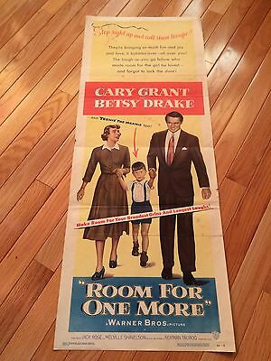 Room For One More~Original 1952 Movie Poster~Cary Grant~Betsy Drake~Very Rare..!