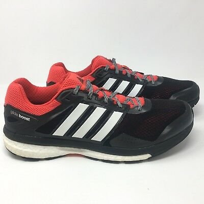 ad1f3d32c Adidas Men s Supernova Glide Boost 7 Running Shoes Sneakers Size 14 M Black  Red