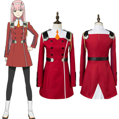 DARLING in the FRANXX ZERO TWO Outfit Cosplay Costume Full Set +Headband Custom