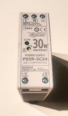 Idec PS5R-SC24, 30 Watt, 24 VDC, 1.3 Amp, Power Supply