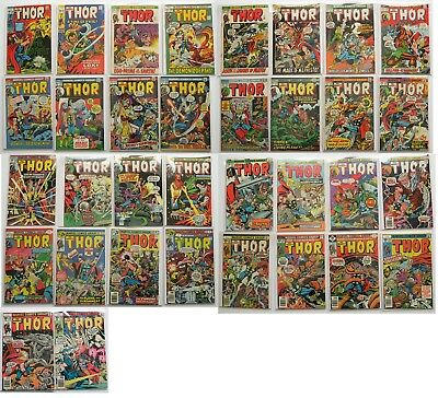 The Mighty Thor Marvel Comics Group Comic Book Lot of 34 1971