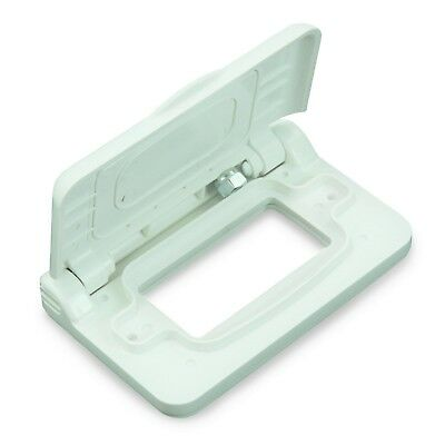 LeisureCord Weatherproof Receptacle Cover For RV Outdoor Electrical Outlet  White