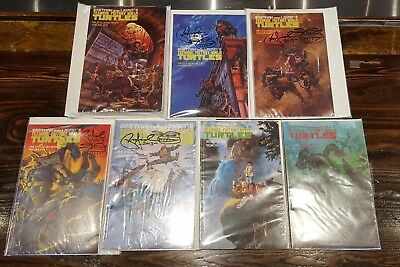 Teenage Mutant Ninja Turtles collected books volume 1-7! Signed by Peter Laird!!
