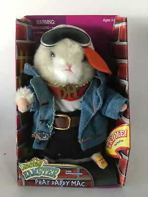 Gemmy Animated Dancing Hamster Phat Daddy Mac With Box Rapper's Delight