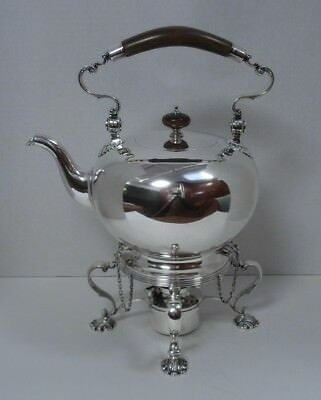 Sterling Silver George II Style Tipping Tea Kettle with Stand
