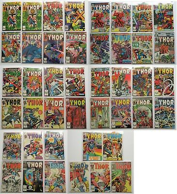 The Mighty Thor Marvel Comics Group Comic Book Lot of 43 1980