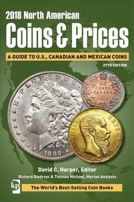 2018 North American Coins & Prices 27Th Edition, David C. Harper Free Shipping!!