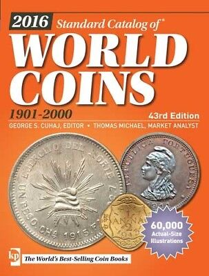 Krause 2016 Standard Catalog Of World Coins 1901-2000 43Rd Ed. New W/free Ship!