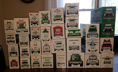 Huge Hess truck Lot.Lot of 32(1986-89,91,92,1994-1998,2000-2016)