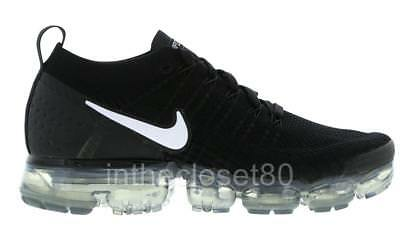 Nike Air VaporMax 2 Flyknit Black White Grey Mens Trainers 942842-001