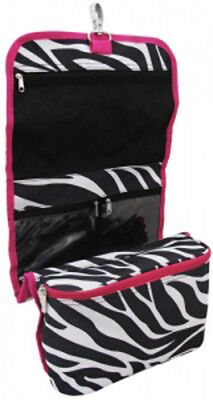 FREE SHIPPING Zebra & Hot Pink Hanging Make-Up, Jewelry, Craft Holder