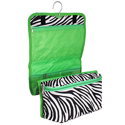 FREE SHIPPING Zebra & Lime Hanging Make-Up, Jewelry, Craft Holder