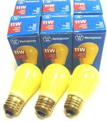 Lot of 6 Yellow Vintage Style Westinghouse 11 Watt Marquee Sign Lights Carnival