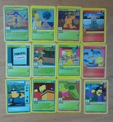 The Simpsons - 12 Trading Cards - deutsch