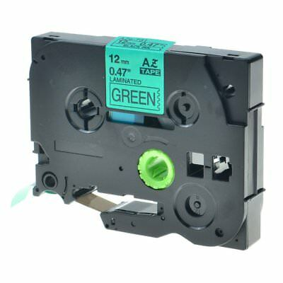 2PK Compatible Brother Label Tape TZ731 TZe-731 Black on Green