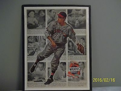 Bob Feller Wheaties 'Breakfast of Champions'  Color Advertisement 1948 - Rare