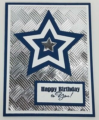 Handcrafted greeting card happy birthday bluesilver dallas handcrafted greeting card happy birthday to you masculine dallas cowboys bookmarktalkfo Gallery