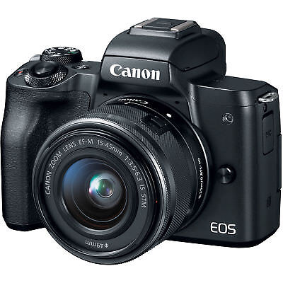 Canon EOS M50 Mirrorless 24.1MP Digital Camera with 15-45mm Lens - Black