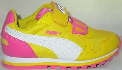 Girl s Puma Sesame Str St Runner Big Bird Hocv Dandelion Toddler s Shoes 3.5 bf97c44a9