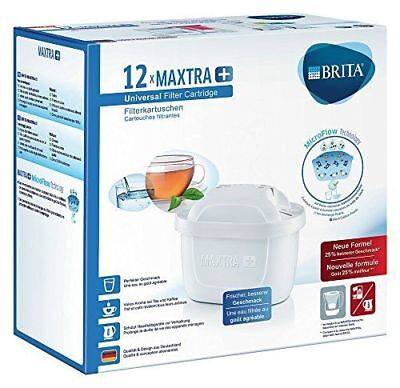 BRITA Maxtra+ Water Filter Cartridges, White, Pack of 12