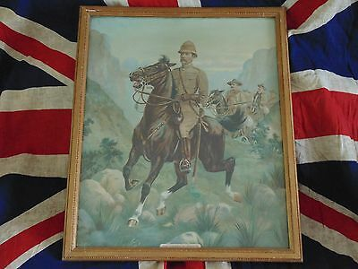 Antique Military Boer War Kitchener Framed Print