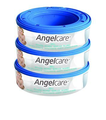 Angelcare Nappy Disposal System Refill Cassettes - Pack of 3 3-Pack