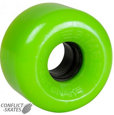 "SIMS ""Street Snake"" Rollerskate Wheels x8 LIME fit Bauer Roller Derby Outdoor"