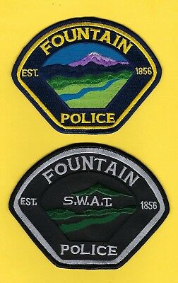 FOUNTAIN POLICE DEPT PATCH SET A ~ COLORADO ~ VERY NICE COLLECTOR's SET ~ L@@K