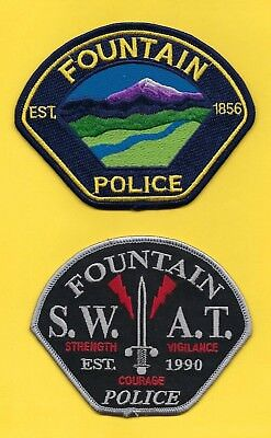 FOUNTAIN POLICE DEPT PATCH SET B ~ COLORADO ~ VERY NICE COLLECTOR's SET ~ L@@K