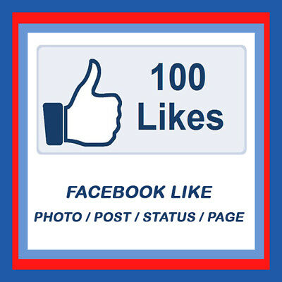 100 facebook like / fanpage like / page like / post like / profile picture like