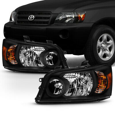 [OE-Style] Black Headlights Replacement Housing For 2001-2007 Toyota Highlander