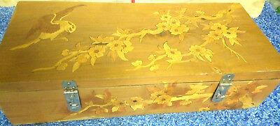 #estate find 19c painting multi Wood kind Carved Jewelry treasure Box Chest RARE