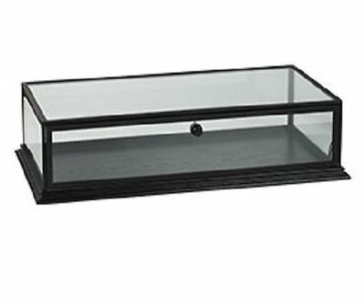 "4 Countertop Wood Displays Case Black Clear Top View 31 ¾"" W x 18 x 8"" Locking"