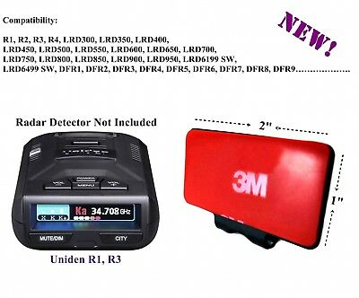 Permanent Windshield Mount For The Uniden All Recent R1, R2, R3 Radar Detector